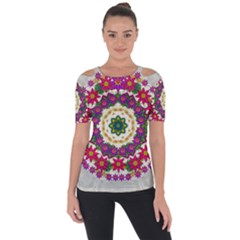 Fauna Fantasy Bohemian Midsummer Flower Style Short Sleeve Top