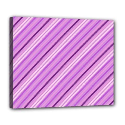 Violet Diagonal Lines Deluxe Canvas 24  X 20