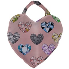 Gem Hearts And Rose Gold Giant Heart Shaped Tote