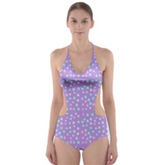 Heart Drops Cut Out One Piece Swimsuit