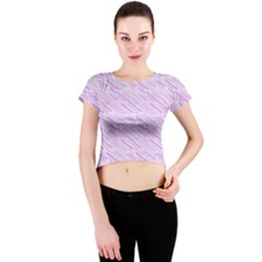 Silly Stripes Lilac Crew Neck Crop Top