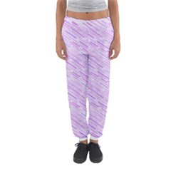 Silly Stripes Lilac Women s Jogger Sweatpants
