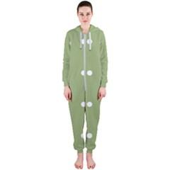 Olive Dots Hooded Jumpsuit (ladies)