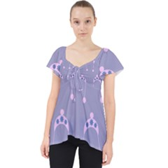 Pink Hat Lace Front Dolly Top