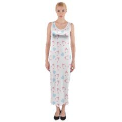 Pink Hats Fitted Maxi Dress