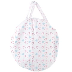 Pink Hats Giant Round Zipper Tote