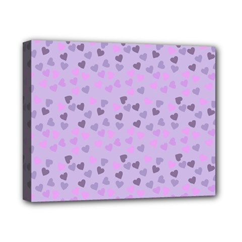 Heart Drops Violet Canvas 10  X 8