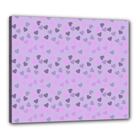 Heart Drops Violet Canvas 24  X 20