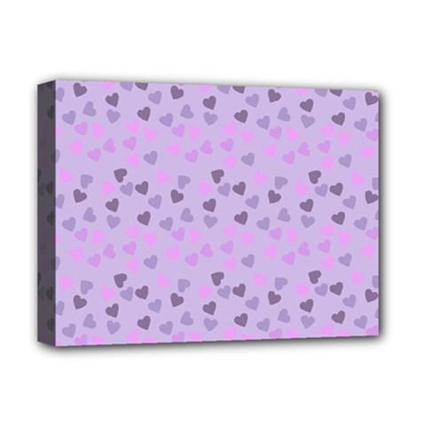 Heart Drops Violet Deluxe Canvas 16  X 12