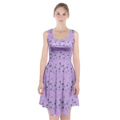 Heart Drops Violet Racerback Midi Dress