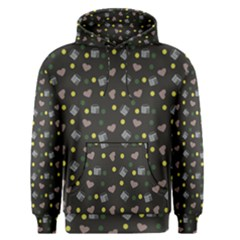Dark Grey Milk Hearts Men s Pullover Hoodie