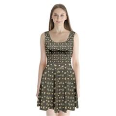 Charcoal Grey  Milk Hearts Split Back Mini Dress