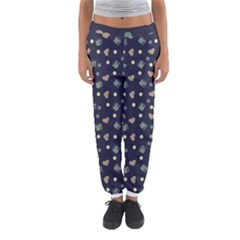 Blue Milk Hearts Women s Jogger Sweatpants