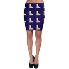 Navy Boots Bodycon Skirt