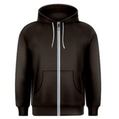 Dark Brown Men s Zipper Hoodie