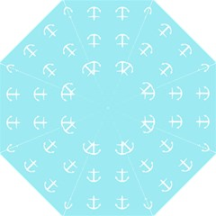 Aqua Anchor Straight Umbrellas