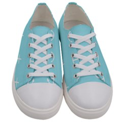 Aqua Anchor Women s Low Top Canvas Sneakers