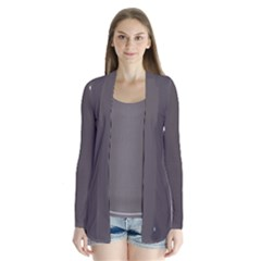 Grey Anchors Drape Collar Cardigan