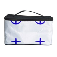 Royal Anchors On White Cosmetic Storage Case