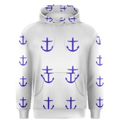 Royal Anchors On White Men s Pullover Hoodie