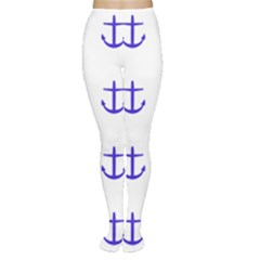 Royal Anchors On White Women s Tights