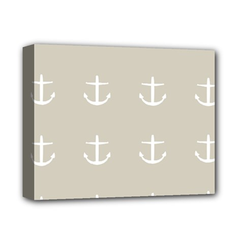Lt Grey Anchors Deluxe Canvas 14  X 11