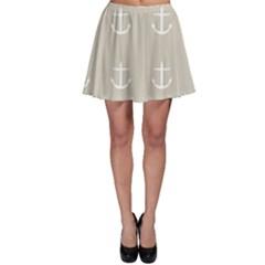 Lt Grey Anchors Skater Skirt