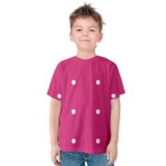 Small Pink Dot Kids  Cotton Tee