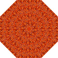 Red Retro Dots Straight Umbrellas by snowwhitegirl