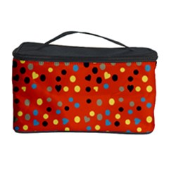 Red Retro Dots Cosmetic Storage Case