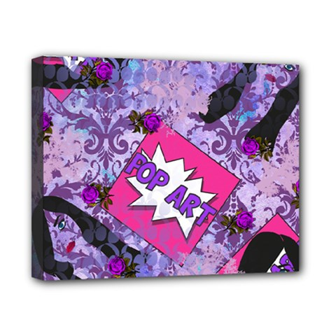 Purple Retro Pop Canvas 10  X 8