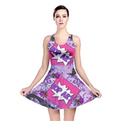 Purple Retro Pop Reversible Skater Dress