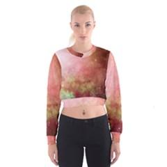 Galaxy Red Cropped Sweatshirt