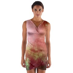 Galaxy Red Wrap Front Bodycon Dress