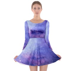 Galaxy Long Sleeve Skater Dress