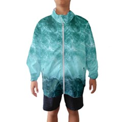 Green Ocean Splash Windbreaker (kids)