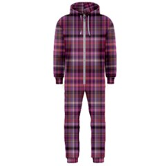 Pink Plaid Hooded Jumpsuit (men)