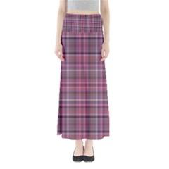 Pink Plaid Full Length Maxi Skirt