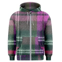 Pink Plaid Flannel Men s Zipper Hoodie