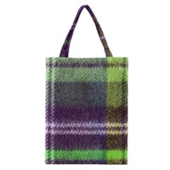 Neon Green Plaid Flannel Classic Tote Bag