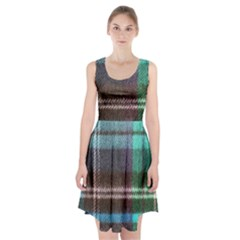 Blue Plaid Flannel Racerback Midi Dress