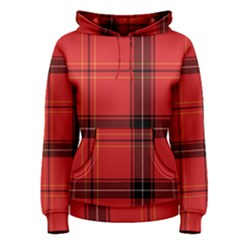Red Plaid Women s Pullover Hoodie