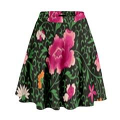 Pink Japan Floral High Waist Skirt