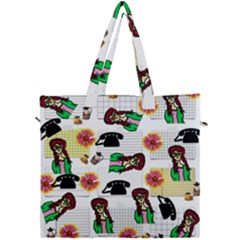 Office Girl Pattern Canvas Travel Bag by snowwhitegirl