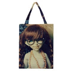 Red Braids Girl Old Classic Tote Bag