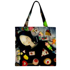 Food Zipper Grocery Tote Bag