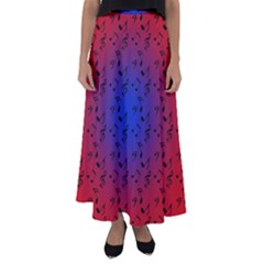 Red Music Blue Moon Flared Maxi Skirt