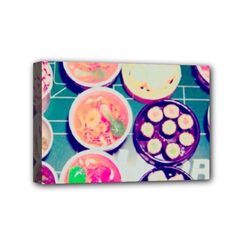 Ramen And Sushi Mini Canvas 6  X 4
