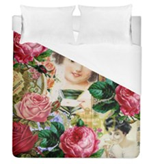 Little Girl Victorian Collage Duvet Cover (queen Size) by snowwhitegirl