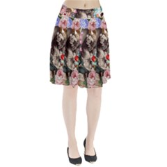 Victorian Collage Pleated Skirt